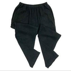 Flax Lagenlook Linen Pants Straight Leg High Rise